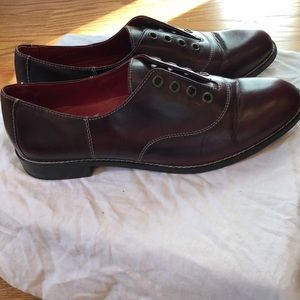 Cole Haan burgundy leather oxfords